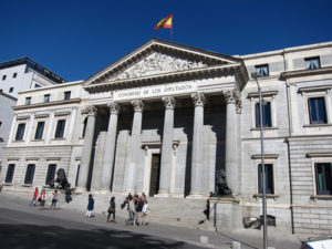 """Congreso De Los Diputados"" The Spanish Congress of Deputies is the lower house of the Cortes Generales"