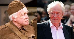 Arnold Ridley (left) and Michael Gambon Sir Michael Gambon, star of Harry Potter and The Singing Detective, will step in as the ageing Private Godfrey