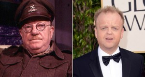 Arthur Lowe (left) and Toby Jones Toby Jones (right), who has recently appeared in BBC One's Marvellous, will play Captain Mainwaring