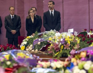 King of Spain attends Bullas coach crash funeral