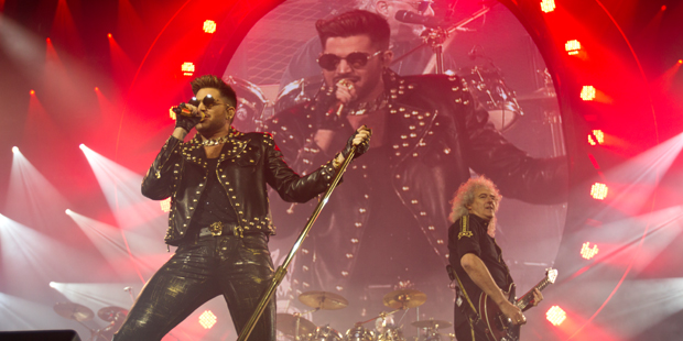 Queen with Adam Lambert at Vector Arena. Photo / Dean Purcell