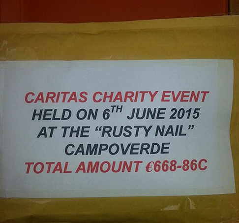 Elvis Cash ready to hand over to Caritas