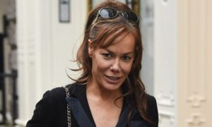 Tara Palmer-Tomkinson seen shopping in mayfair london
