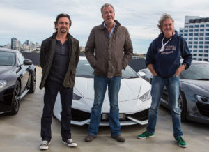 PERTH, AUSTRALIA - JULY 17:  (L-R) Richard Hammond, Jeremy Clarkson and James May during a press event on July 17, 2015 in Perth, Australia.  (Photo by Matt Jelonek/WireImage)
