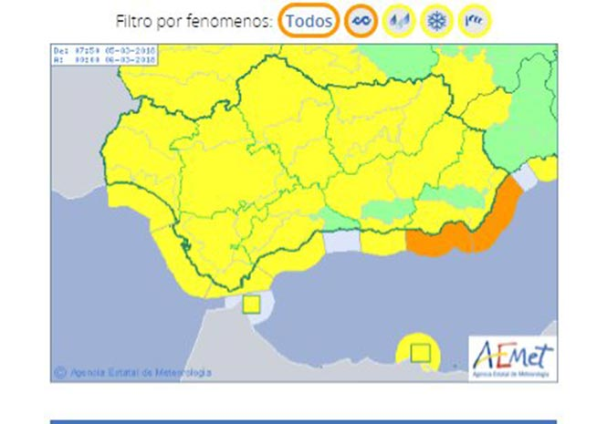 Weather warning - 5 March 2018